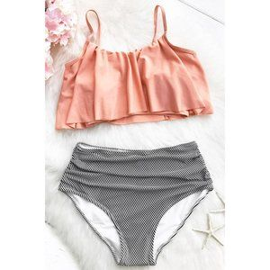 Peachy Seaside Gale Falbala High Waisted Bikini M